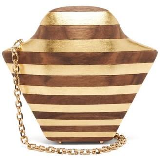 Sabry Marouf - The Tutankhamun Gold Leaf & Wood Cross-body Bag - Gold Multi
