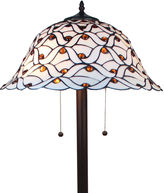 AMORA Amora Lighting AM025FL18 Tiffany-style Jeweled Design Glass Pearl Floor Lamp