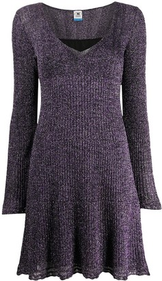 M Missoni Lurex Fine-Knit Swing Dress