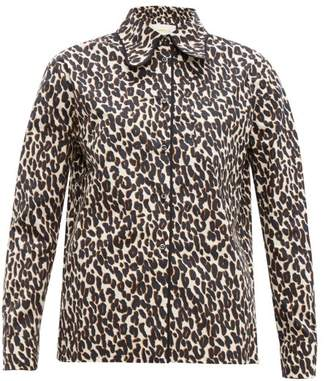 La DoubleJ Rodeo Leopard-print Cotton-poplin Shirt - Womens - Leopard