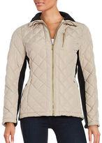 Calvin Klein Quilted Zip-Front Coat