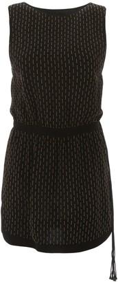 Saint Laurent MICRO STUDS MINI DRESS 38 Black, Gold