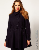 Asos Fit And Flare Coat