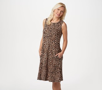Susan Graver Liquid Knit Sleeveless Dress with Pockets