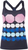 Ted Baker Marina mosaic long line sports strap top