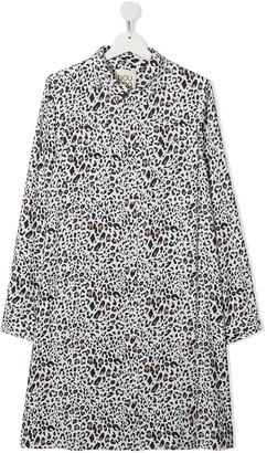 Douuod Kids TEEN animal-print shirt dress