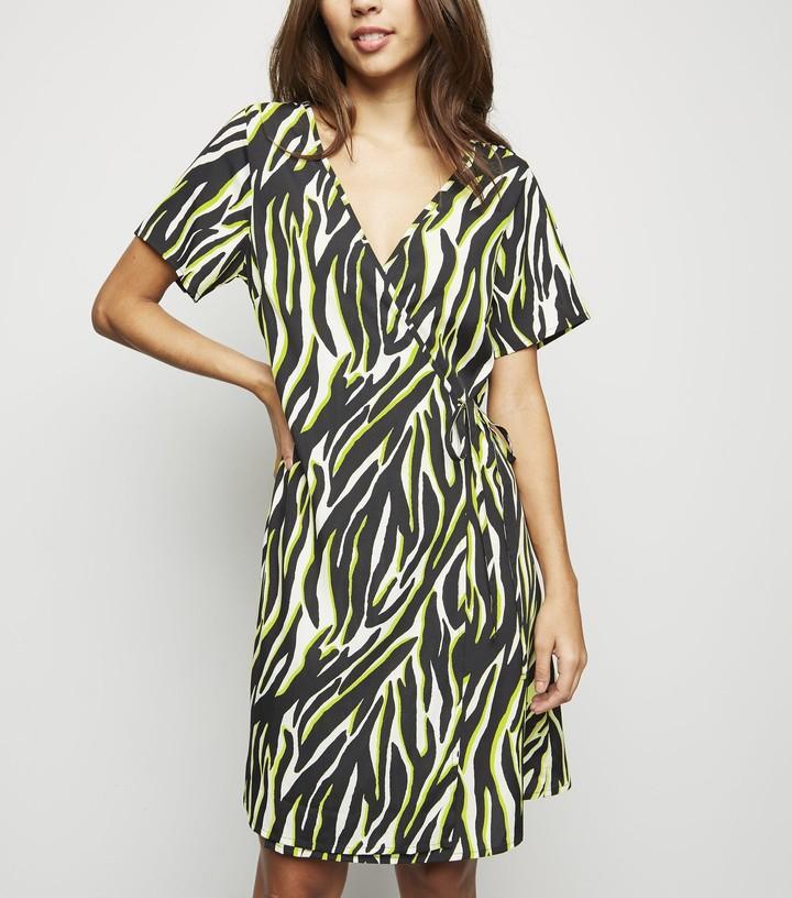 New Look Tall Zebra Print Wrap Dress