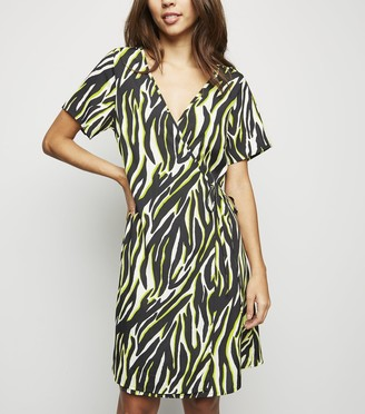 New Look Tall Zebra Print Wrap Dress