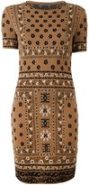 Alexander McQueen patterned jacquard pencil dress