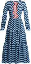 House of Holland Wave-print cotton dress