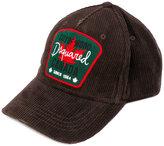 DSQUARED2 logo patch corduroy baseball cap - men - Cotton - One Size