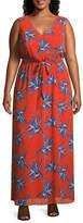 Secret Charm Sleeveless Floral Maxi Dress-Plus