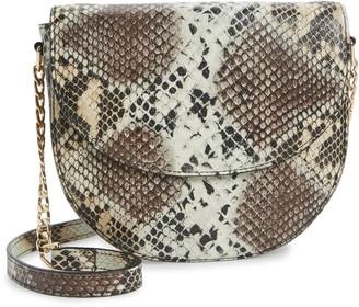 Nordstrom Ava Core Snakeskin Print Leather Crossbody Bag