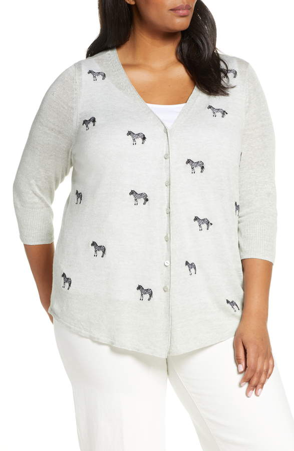 Nic+Zoe Zebra Crossing Cardigan