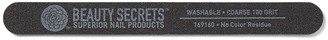 Beauty Secrets Coarse 100 Grit Black Nail File