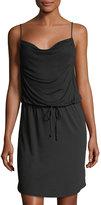 LAmade Draped Drawstring-Waist Mini Dress
