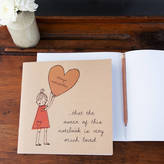 STUDY Lou Brown Designs Always Loved Girl Notebook