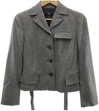 BOSS Grey Wool Coat for Women