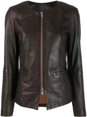 S.W.O.R.D 6.6.44 zipped leather jacket