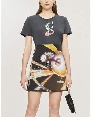 Pinko Ottocento space-print woven mini skirt