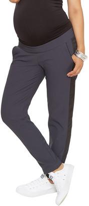 Stowaway Collection Maternity Drawstring Tuxedo Pant