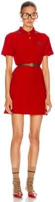 Gucci Polo Mini Dress in Flame & Red | FWRD