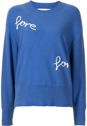 PortsPURE Love-Embroidered Jumper