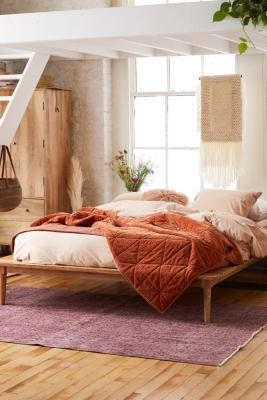 Urban Outfitters Amelia Platform Double Bed - Beige ALL at