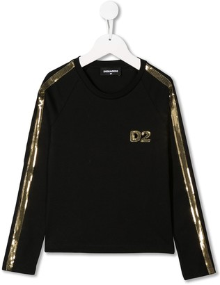 DSQUARED2 sequinned logo top