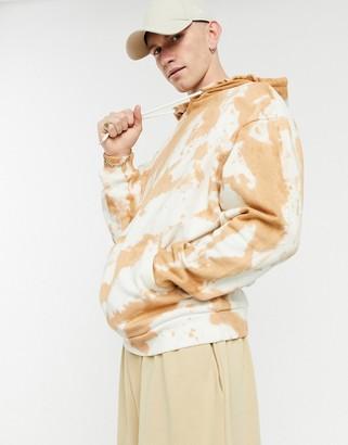 ASOS DESIGN oversized rusty orange tie-dye hoodie