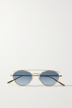 The Row Oliver Peoples Hightree Round-frame Gold-tone Sunglasses