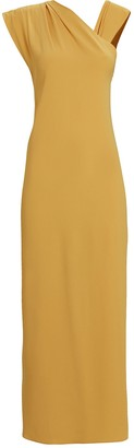 Racil Flavia One-Shoulder Crepe Gown
