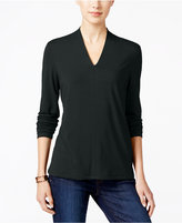 Charter Club Long-Sleeve V-Neck Top, Only at Macy's