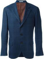 Brunello Cucinelli checked blazer - men - Silk/Linen/Flax/Wool/Cupro - 56