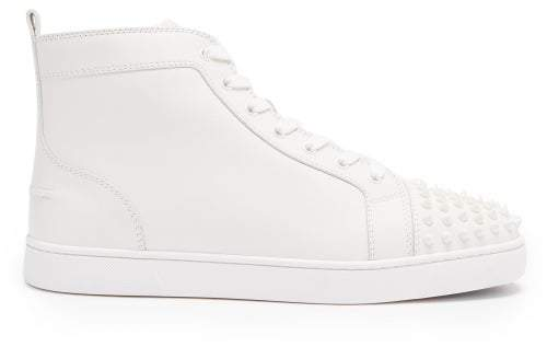 promo code ca99e 622c2 Louis Spike Embellished High Top Trainers - Mens - White