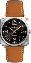 Bell & Ross Aviation BR S Heritage automatic brown Leather strap watch