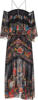 Roberto Cavalli Enchanted Garden Off-The-Shoulder Dress