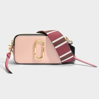 Marc Jacobs Snapshot Bag In Pink Leather With Polyurethane Coating
