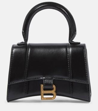 Balenciaga Hourglass Mini leather tote