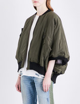 NSF Motley batwing-sleeve shell jacket