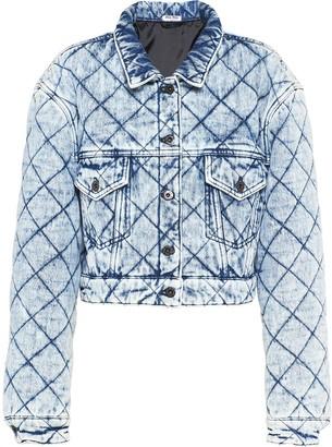 Miu Miu Quilted Denim Jacket