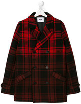 MSGM tartan double-breasted coat