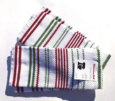 KitchenAid Terry Cloth Kitchen Towel Set with Vertical Christmas Colors Stripes