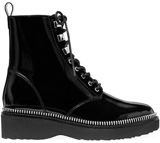 MICHAEL Michael Kors Haskell Patent Leather Combat Boots