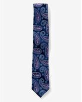 Express tall slim paisley silk tie