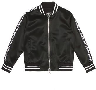 Balmain Kids Jersey bomber jacket