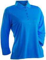 Asstd National Brand Nancy Lopez Golf Luster 3/4 Sleeve Polo Plus