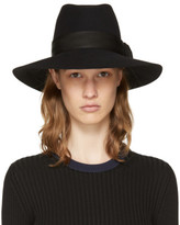 Maison Michel Black Felt Buckle Kate Fedora