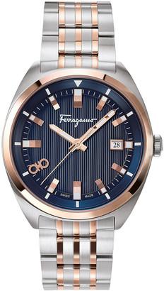 Salvatore Ferragamo Men's 40mm Heritage Two-Tone Bracelet Watch