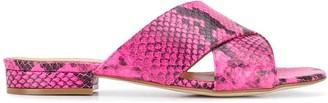 Via Roma 15 Snakeskin Print Sandals